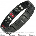 IonTopia® EUROPE BLACK Titanium & Germanium Magnetic Bracelet