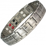 MPS® EUROPE Grey Silver Titanium & Germanium Magnetic Bracelet