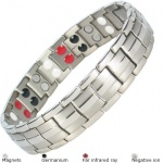 MPS™ EUROPE Grey Titanium & Germanium Magnetic Bracelet