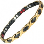 MPS™ ALIOTH 4 in 1 BLACK & GOLD Titanium Magnetic Bracelet