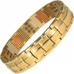 MPS™ WEREWOLF Repellent  Multi Elements Gold PL Magnetic Bracelet