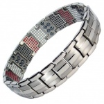 MPS™ VAMPIRES repellent Multi Elements Silver Tone Magnetic Bracelet