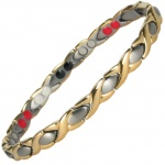 MPS® ATHENIE GOLD SILVER Titanium 4 Elements  Magnetic Bracelet