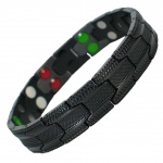 MPS™ UBAO 5 in 1 Elements BLACK Titanium Magnetic Bracelet