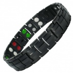 MPS™ UNICORN Taming, 5 in 1 Elements BLACK Titanium Magnetic Bracelet