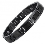 MPS® ATOL Jet Black Titanium Magnetic Bracelet with Black Carbon Insert