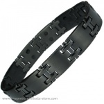 MPS™ JON Jet Black Titanium Magnetic Bracelet for Men