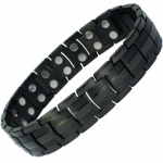 MPS® EUROPE Jet Black Titanium Magnetic Bracelet