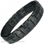 MPS® EUROPE Jet Black Titanium Magnetic Bracelet BM