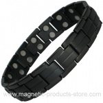 MPS™ ELAR Jet Black Ladies Titanium Magnetic Bracelet