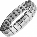 MPS® HOMER SILVER GREY Magnetic Bracelet for Men Arthritis Pain Relief Health Titanium Magnet Therapy Wristband