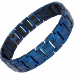MPS® HOMER Classic BLUE Titanium Magnetic Therapy Bracelet for men