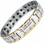 MPS HOMER GOLD-SILVER Finish Titanium Magnetic Therapy Bracelet