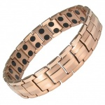 MPS™ EUROPE ROSE-GOLD Finish Titanium Magnetic Therapy Bracelet