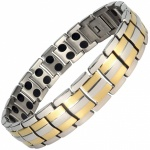MPS HOMER SILVER 2 GOLD Titanium Magnetic Therapy Bracelet