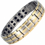 MPS HOMER SILVER 3 GOLD Titanium Magnetic Therapy Bracelet
