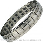 MPS® EUROPE Classic Titanium Magnetic Therapy Bracelet for men