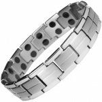 MPS® Magnetic Bracelet for Men Arthritis Pain Relief Health Titanium Magnet Therapy Wristband, ELAR Grey with Resizing Tool