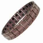 IonTopia HOMER Coffee Tone Titanium Magnetic Therapy Bracelet