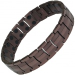 MPS™ EUROPE Coffee Tone Titanium Magnetic Therapy Bracelet