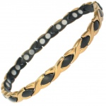 MPS ATHEN GOLD & BLACK Ladies Titanium Magnetic Bracelet