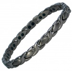 MPS® ATHEN Deep Shade of Grey Titanium Magnetic Bracelet for women