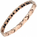 MPS® ATHEN Rose Gold Titanium Magnetic Bracelet for women