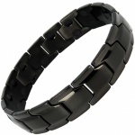 MPS® CastleRock Titanium Magnetic Therapy Bracelet for Men BLACK