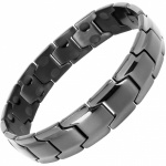 MPS® CastleRock Titanium Magnetic Therapy Bracelet for Men GUNMETAL