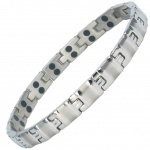 MPS® ALVIR SILVER Double Strength Titanium Magnetic Bracelet for Women