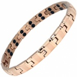 MPS® ALVIR Rose Gold Double Strength Titanium Magnetic Bracelet for Women