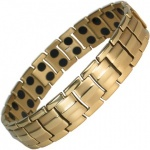 MPS HOMER GOLD PL Titanium Magnetic Therapy Bracelet
