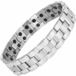 MPS® Magnetic Bracelet for Men Arthritis Pain Relief Health Titanium Magnet Therapy Wristband, ANDAR Polished with Resizing Tool