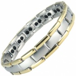 MPS® POLARIS Gold Edge Double Strength Titanium Magnetic Bracelet