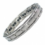 MPS® POLARIS Silver Double Strength Titanium Magnetic Bracelet