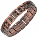 MPS® Homer Classic Copper Plated Titanium Magnetic Therapy Bracelet for men