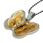 MPS BUTTERFLY 3D Gold Plated Energy Pendant