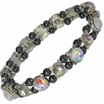 MPS® FELICIAN Beautiful Hematite Crystal Magnetic Bracelet for Women - Stretching Band - Colour Changing Crystals