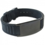 Original IonTopia� HI-PRIME Limited Editions Magnetic Bracelet with Black Silicone Strap and Black Tag
