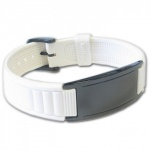 IonTopia® HI-PRIME Limited Editions Magnetic Bracelet with White Silicone Strap and Black Tag