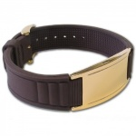 IonTopia® HI-PRIME Limited Editions Magnetic Bracelet with Brown Silicone Strap and Rose Gold Tag