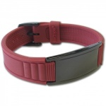 IonTopia® HI-PRIME Limited Edition Magnetic Bracelet with Red Silicone Strap and Black Tag