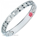MPS™ DAI MEDICAL ALERT Stainless Steel Magnetic Bracelet