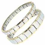 MPS® EXPANDING Magnetic Bracelets MATCHING SET Silver-Gold