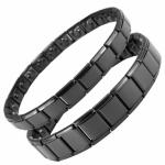 MPS® EXPANDING Magnetic Bracelets MATCHING SET Black